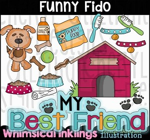 Funny Fido Clipart Collection