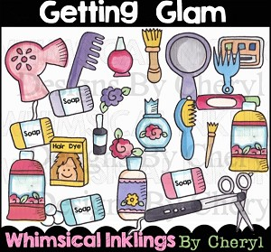 Getting Glam Clipart Collection