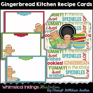 Gingerbread Kitchen Recipe Cards