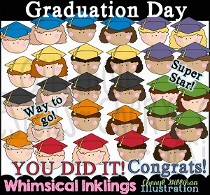 Graduation Day Clipart Collection