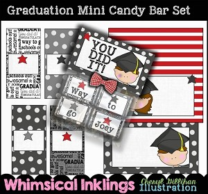 Graduation Mini Candy Bar Wrappers