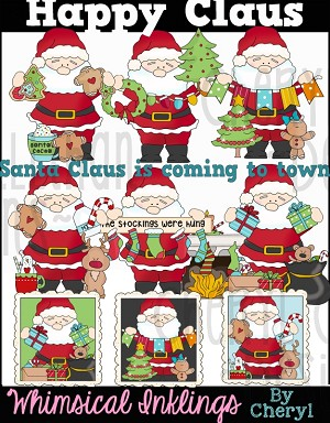 Happy Claus Clipart Collection