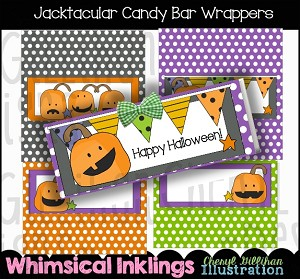 Jacktacular Candy Bar Wrappers