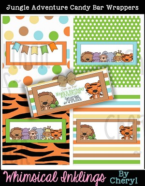 Jungle Andventure Candy Bar Wrappers