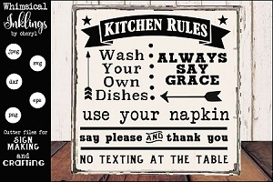 Kitche Rules Two SVG