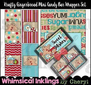 Krafty Gingerbread Mini Candy Bar Wrappers