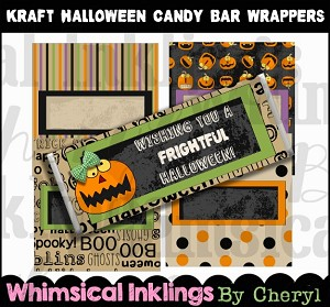 Krafty Halloween Candy Bar Wrappers