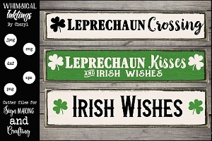 Leprechaun Crossing Saint Patricks Day SVG Set