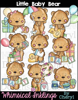 Little Baby Bear Clipart Collection