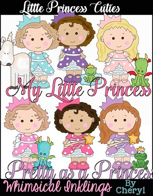 Little Princess Cuties Clipart Collection