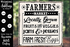 Locally Grown farmers Market SVG