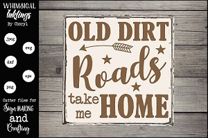 Old Dirt Road SVG