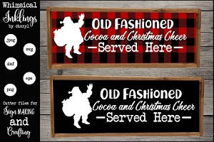 Old Fasioned Christmas Cocoa SVG