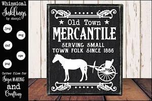 Old Town Mercantile SVG