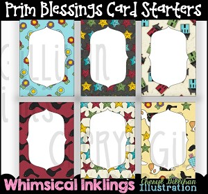 Prim Blessings Card Starters