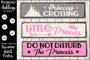 Princess Crossing SVG Set