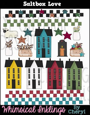 Saltbox Love Clipart Collection