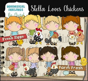 Stella Loves Chickens RESELLERS LIMITED SET