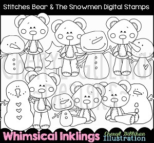 Stitches the Bear Digital Stamp Bundle