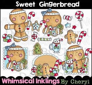 Sweet Gingerbread Clipart Collection