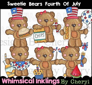 Sweetie Bear Fourth Of July