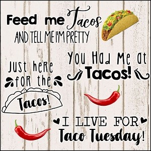 Taco Lover SVG Set