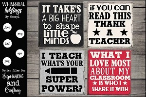 Teacher Magnet -Sign SVG set