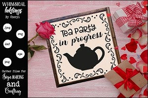 Tea Party In Progress SVG