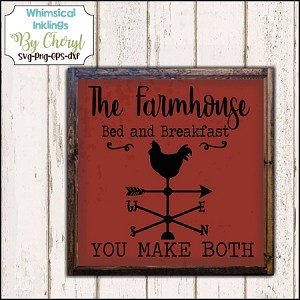 The Farmhouse Bed and Breakfast SVG Cutter File