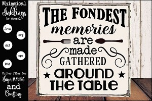 The Fondest Memories SVG