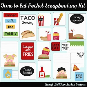 Time To Eat Pocket Scrapbooking Set