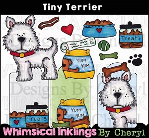 Tiny Terrier Clipart Collection