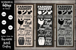 Vertical Farmers Market Sign SVG