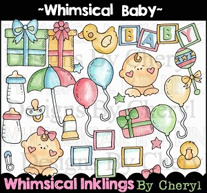 Whimsical Baby Clipart Collection